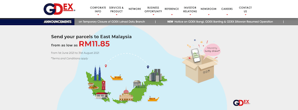 Gdex Courier Service Malaysia