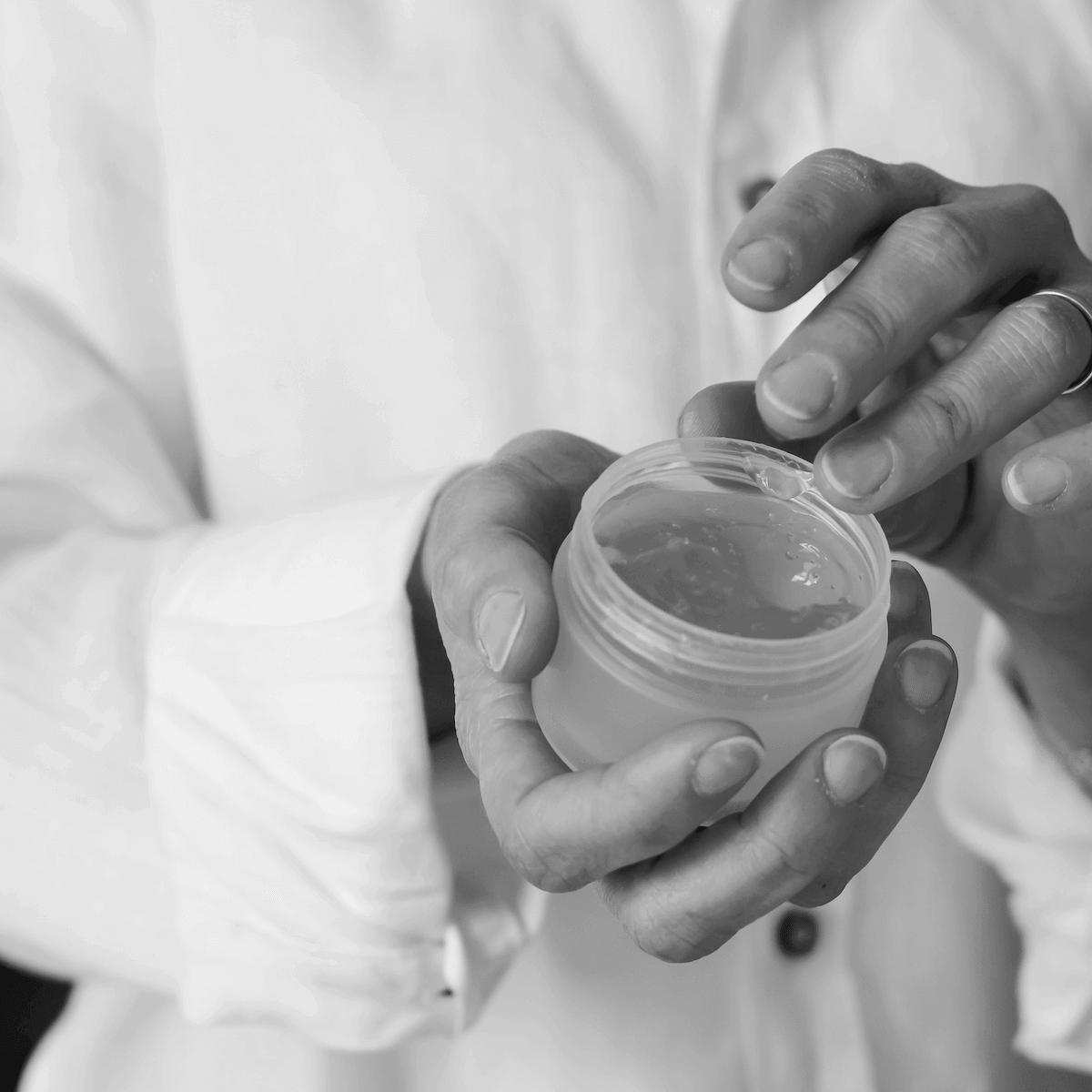 Peeling gel Application